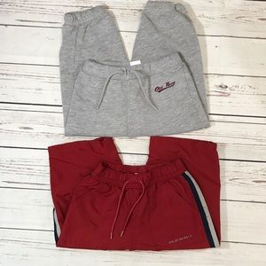 Old navy jogger & sweats size 12-18 Months two